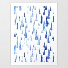 Blue Water Love #2 Art Print