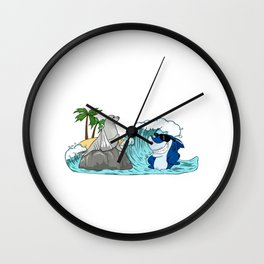 Funny Do Not Consume If Seal Is Broken Seal Shark Wall Clock