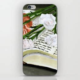 Flowers on Bible Painting iPhone Skin