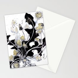 Gold Dandelions Stationery Cards