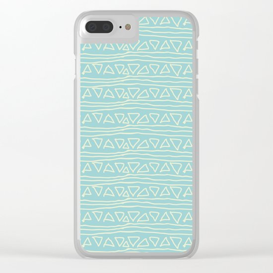 Blue Scribbles Pattern 05 Clear iPhone Case