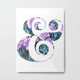 Floral Ampersand Metal Print