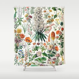 Adolphe Millot - Fleurs B - French vintage poster Shower Curtain