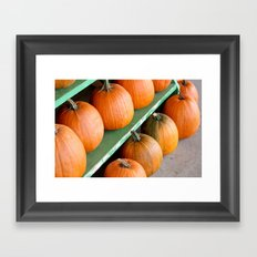 The Pumpkin Stand Framed Art Print