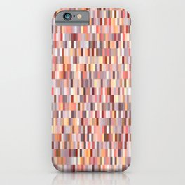 Peach, salmon and coral, pink shades, geometric pieces print iPhone Case