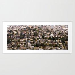 San Francisco Tilt-Shift Art Print