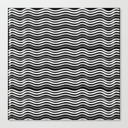 Black and White Graphic Metal Space Canvas Print