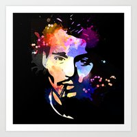 johnny depp Art Prints featuring Johnny Depp by BIG Colours