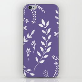 Ultra Violet Leaves Pattern #2 #drawing #decor #art #society6 iPhone Skin