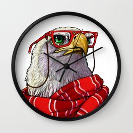 Clever eagle Wall Clock