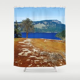 Lone Arbutus, Mid Afternoon Stoney Hill Shower Curtain