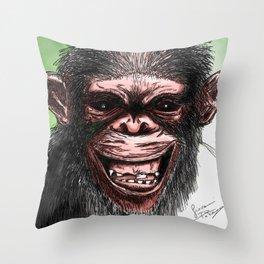 CRAZY MONKEY Throw Pillow