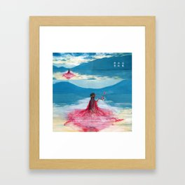 《A Thousand Years 》(千古千尋 ) - Ethereal Eternal Epic(空靈 清遠 悠長) Framed Art Print