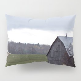 Barn and the Cattle on the hill Pillow Sham