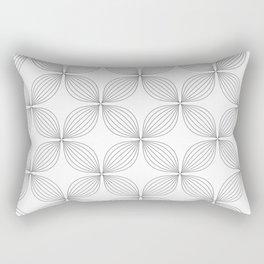Flower Lines Rectangular Pillow