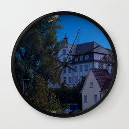 Concept landscape : Moon over the castle Wall Clock