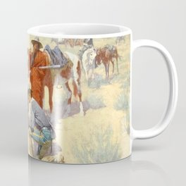 """Western Art """"A Map in the Sand"""" by Frederic Remington Coffee Mug"""