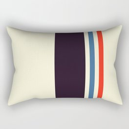 Classic Minimal Racing Car Retro Stripes - Furaribi Rectangular Pillow