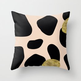 Golden exotics - Cow and soft tangerine Throw Pillow