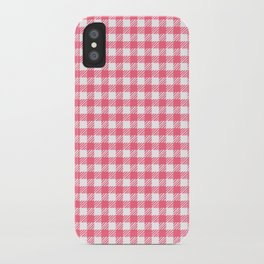 Picnic Pals gingham in strawberry iPhone Case