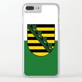 flag of Sachsen (historic state) Clear iPhone Case