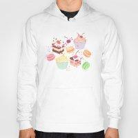 macaroon Hoodies featuring sweet pattern aka cake , cupcake and macaroon by Marta Olga Klara