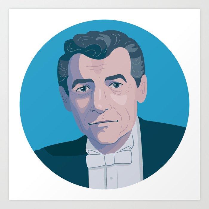 Queer Portrait - Leonard Bernstein Art Print
