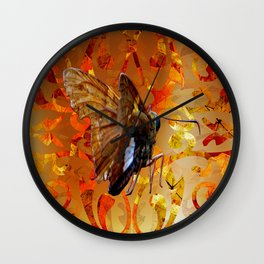 Silver Spotted Skipper Butterfly  Wall Clock