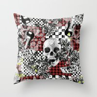 rock n roll Throw Pillows featuring 50s rock n roll by Mickaela Correia