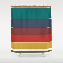 Retro Stripes Shower Curtain