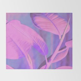 Rubber house plant Throw Blanket