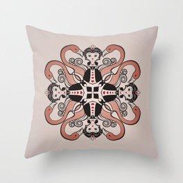 Queen of Hearts mandala Throw Pillow