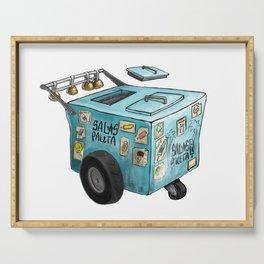 Blue Paletero Ice Cream Cart Serving Tray