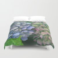 hydrangea Duvet Covers featuring hydrangea by EnglishRose23