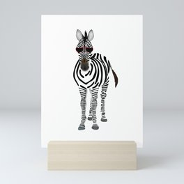 Shady Zebra Mini Art Print