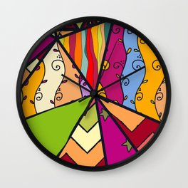 African Style No14, Tribal dance Wall Clock