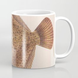 Vintage Flounder Fish Illustration (1919) Coffee Mug
