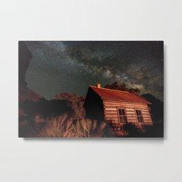 Cabin under the Stars Metal Print