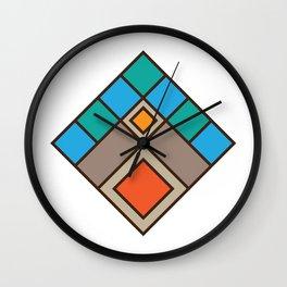 Tile Mountain Badge Wall Clock