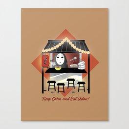 No Face Kaonashi Selling Udon Canvas Print