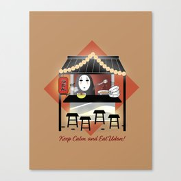 No Face Kaonashi Selling Udon Canvas Print
