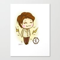 exo Canvas Prints featuring Pathcode EXO - Chen by Minnie Dreamer