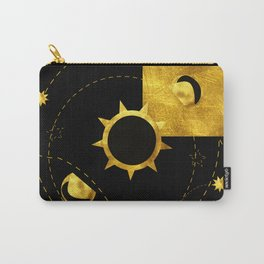 Solar Eclipse black gold Carry-All Pouch