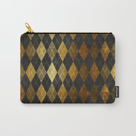 Black and gold geometric abstract pattern II- Luxury design for your home Carry-All Pouch