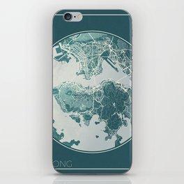 Hong Kong Map Planet iPhone Skin