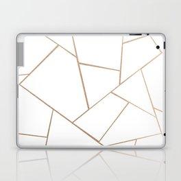 Rose Gold White Geometric Glam #1 #geo #decor #art #society6 Laptop & iPad Skin