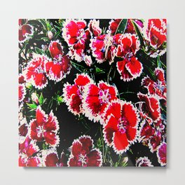 Red Flower Gifts from the Digital Garden - 001 Metal Print