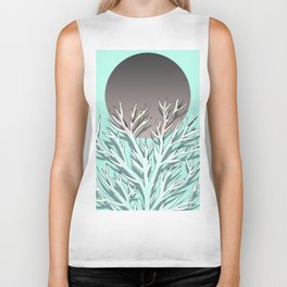 Tree and the moon Biker Tank