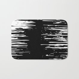 Splash White on Black Bath Mat