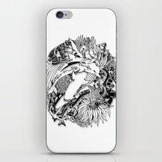 Sea Animals Surreal Doodle Art iPhone Skin